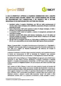 Comunicato stampa Progetto Business Combination pdf - Sprint